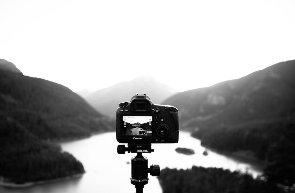 Camera view of landscape